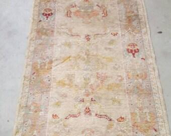 Antique Oushak Runner Soft