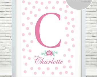 Girls Initial / Name Print