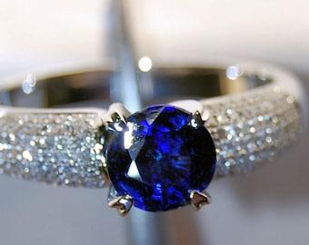 Dazzling 14K White Gold Sapphire Dress Ring