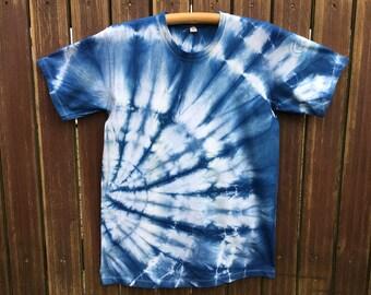 Hand-dyed Indigo batik shirt No. 3 / meter