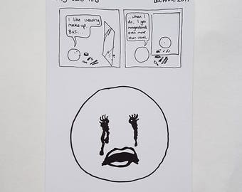 Postcard: only-two comic #8 - misgendering makeup cissexism gender stereotypes nonbinary non-binary trans queer genderqueer transgender