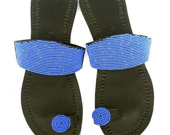 Women Leather Sandals, Beaded Sandals, African Women Sandals, Leather Sandals for Women,Barefoot Sandals, Masai Sandal, Women Footwear,