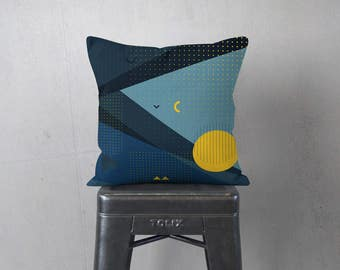 Modern Grey Pillow - Memphis Pattern - Striped Pillow Sham - Modern Home Decor -  Decorative Pillow - Textured Pillow - Accent Pillow