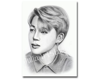 Korean idol-Jimin portrait print