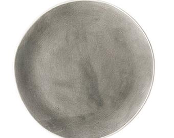 Grey Vintage Dinner Plate