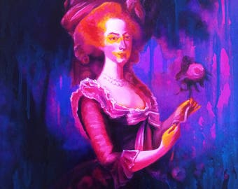 "Original oil painting,""Marie in the Swamp"", 20""x16"", 2017"
