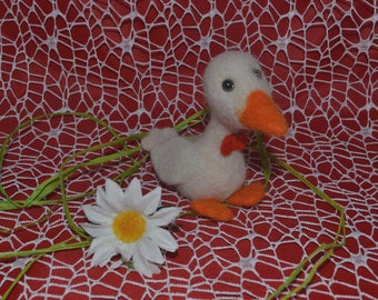Little duck, wool toy, handmade toys