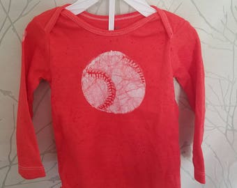 red and white baseball batik