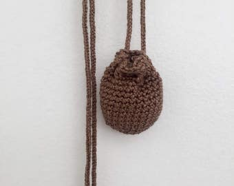 Pouch Necklace // Small // Camel