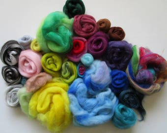 Needle Felting Kit - Felting Fibre - Felt Making - Fibre Kit - Felting Palette Kit - Fibre Assortment - Felting Kit
