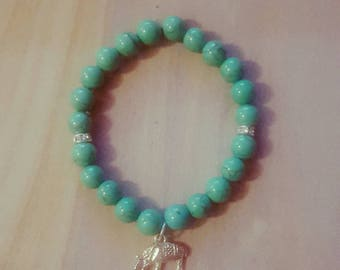 Single Turquoise Magnesite bracelet