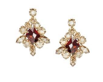Earrings Viktoria Red Magma