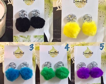 Funky Pompom Earrings