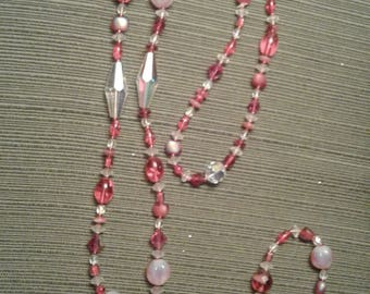 Crystal and Beaded Necklace