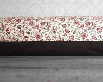 Flowers Dog Bed, handmade dog bed, pillow style dog bed, dog pillow, dog cushion, removable cover, hollowfibre insert, machine washable