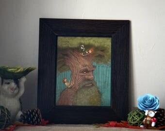 Treebeard Art Print, Lord of the Rings Art Print, Lord of the Rings Art, Lord of the Rings Decor.