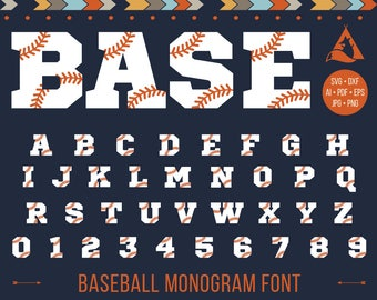 Baseball Font Svg, Baseball Monogram, Softball Alphabet Svg, Baseball Stitches Letters Svg Dxf Png Jpg Eps Pdf Ai Cricut Silhouette Iron on