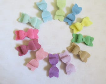 Pastel Coloured Mini Hair Bows