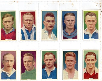 "Full set of 50 ""Soccer Stars"" Cigarette Cards from 1936"