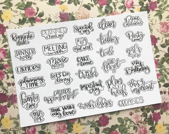 OCCASIONS - Planner Stickers / Hand Lettering / Special Occasion Daily / Happy Planner Stickers / Erin Condred / Mini Happy Planner Stickers