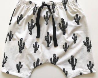 toddler baby boy cactus harem shorts