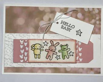 Hello Baby Handmade Card