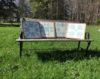 Set of 4 framed barn quilts