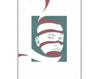 Within (Surrealist Portrait Print)