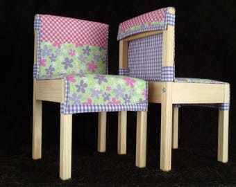 Childrens' Quilted Cushions for LÄTT Table & Chair Set - Flowers