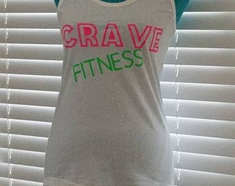 Summer neon white crave fitness tank