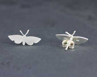 Silver earrings small Butterfly