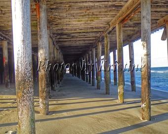 Under the Boardwalk, Boardwalk Photography, Depth Photography, Beach Photography, Seaside Heights, NJ