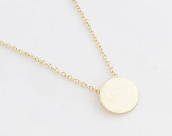"Circle Necklace ""Plate"" gold"