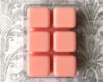 Savannah Sunrise Wax Tart Melt Breakaway Clamshell Soy Wax Candle Scented Bar Cubes Aromatherapy Pink
