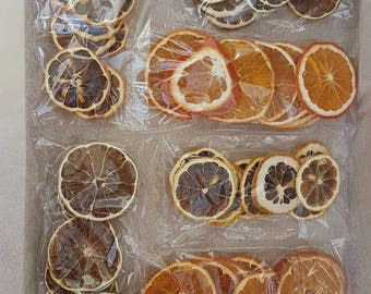 30 pieces of naturally dried fruit orange lime lemon