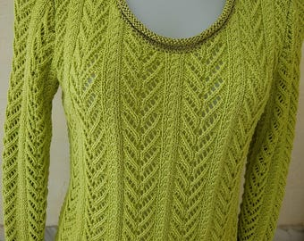 hand knitted cotton sweater