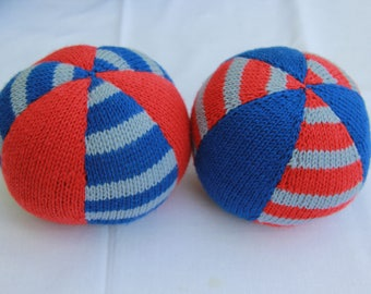 wool balls hand-knitted