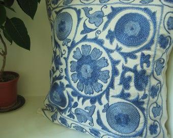 A Handmade Suzani Pillowcase from Uzbekistan. Made for You with Love!