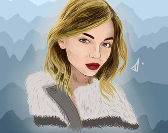 illustration picture drawing portrait gift art