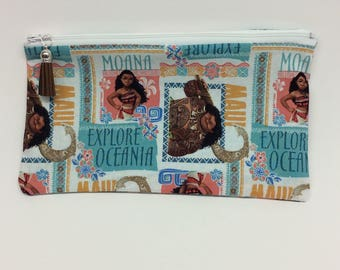 Moana makeup bag/ accessory case/ travel bag