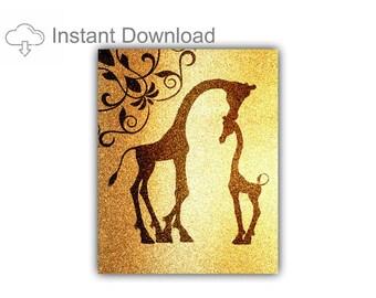 Giraffe Gift, Giraffe Print, Instant Download, Downloadable Print, Nursery Decor, Nursery Wall Art, Giraffe Nursery, Giraffe Art, Boy, Girl