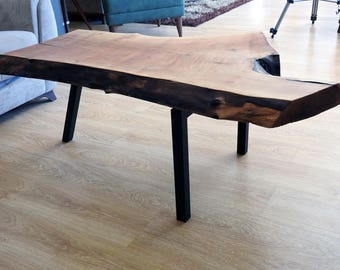 Natural Walnut 63x52x43x4 Cm coffee table