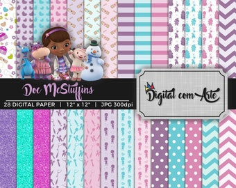 Doc McStuffins Digital Paper