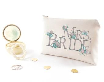 Custom bachelorette Gift under 30 Personalized bridesmaid make up bag Monogram bachelorette party gift Monogram cosmetic bags Monogram gifts