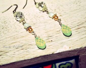 Chrysolite opal earrings