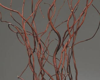 Dark Brown Curly Willow | Dark Curly Willow | Dried Curly Willow | Wedding Centerpieces