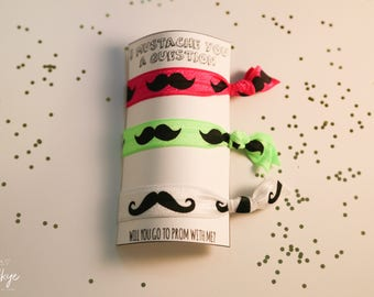 I Mustache You a Question - Prom Hair Ties Set of 3