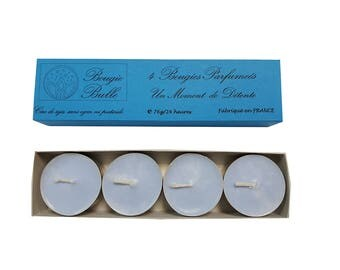 4 scented candles, relaxing craft wax soy natural duration 24 h