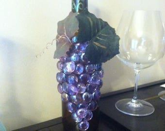 Grape wine bottles
