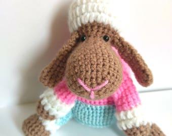 Lucky Lamb crocheted amigurumi toy